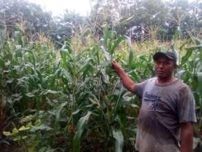 Jose showing his QPM crop.