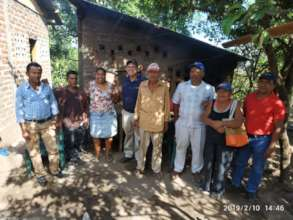 La Palma farmers meeting with SHI staff.
