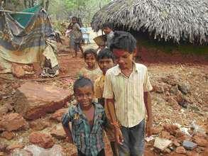 Tribal Children in the village