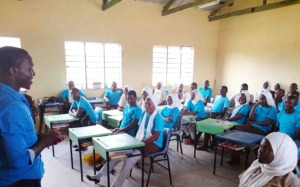 Classroom furniture provided by the foundation
