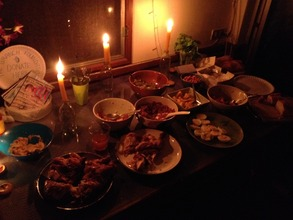 A 'dinner by candlelight' fundraising event