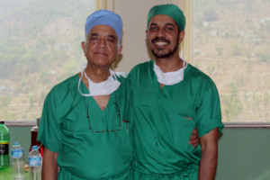 Dr. Banskota and his son Dr. Bibek Banskota