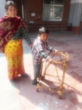 Suraj learning to walk!