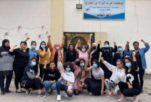 OWFI members celebrating their win.