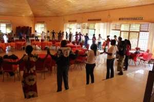 Training exercise during July Academy