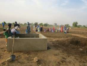 New water basins for irrigation in Keur Daouda