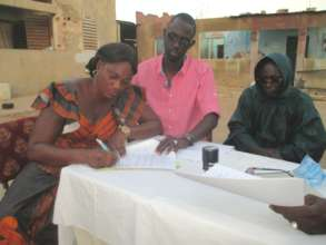 Signing partnership agreement with newest village