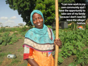 Sokhna is proud to grow her own vegetables