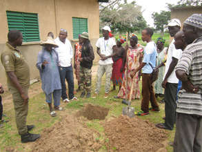Trees were planted throughout each community