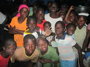 Excited children in Gagnick Mack