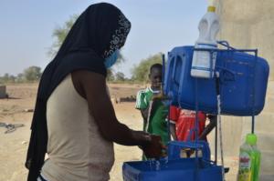 Hand Washing Station in Boustane Lo