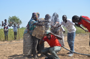 The joy of clean water!