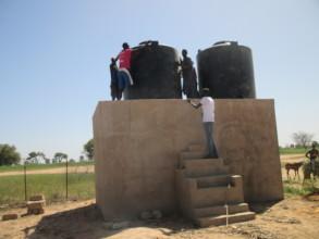 Mbossedji garden site has 2 water reservoirs