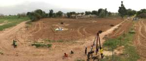 A panoramic view of Mbossedji's future garden site