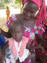 Walo cooperative president and her child