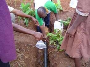 Taking water sample KYC: