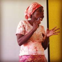 A workshop participant presents her Story of Self