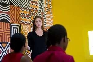 Founder Ayla Schlosser leading a workshop