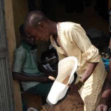 Jamil works in the Adbullahadi's Shoemaker Shop