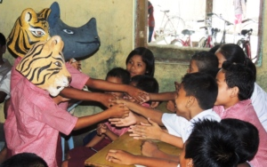 Younger children enjoy meeting the wild animals