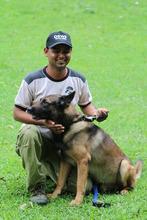 Jorba and handler Anil Das