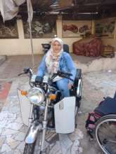 Hana on her accessible motorcyle