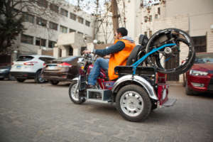 Mohamed on his way to Work