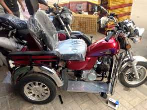 Accessible motorcycle made in Egypt