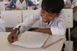 More than 1,000 children helped to go to school