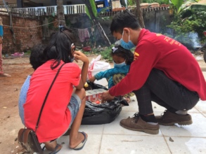 Food and hygiene supplies for local families