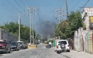 This is also Haiti now-streets silent, road blocks