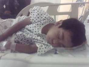 Miguelito in hospital