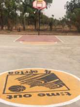 Completed Basketball Court .