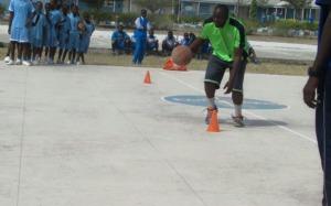 Mr  Ayene(Timeout4africa staff) instructing