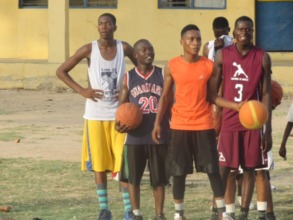 Yusuf at practice with his teammates