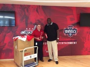 Donated items from Washington Wizards NBA Team