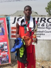 Yusuf at last years clinic with his MVP prizes