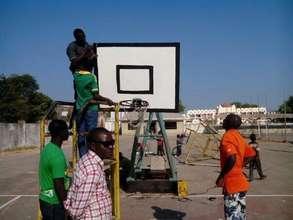 Basketball court repairs