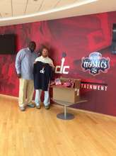 Support from Washington Wizards staff
