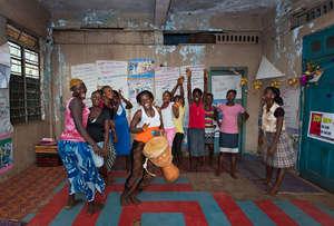 Girls empowerment club in Sierra Leone