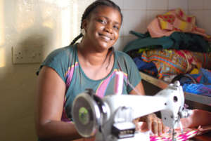 Khadija survived Ebola to re-open her shop.