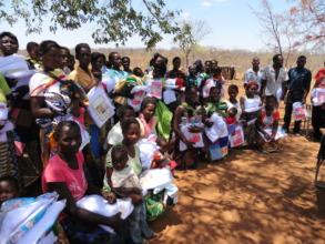 Chuunga Community Receive Mosquito Nets