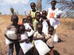 Distribution of Mosquito Nets - Kafekwa Village