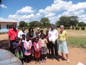Donation of mosquito nets - Mambova School