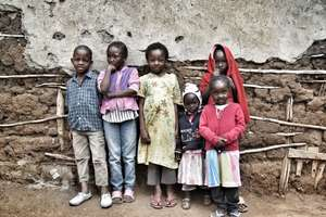 Children in Kiambiu