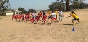 Girls in Hazaribagh practising