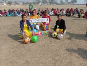Girls in Mahoba in a big event on National girls'