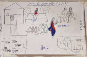 girls made pictorial rep. of the impact of program