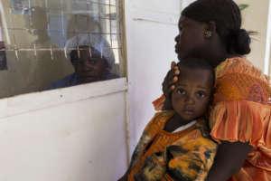 Triage center in Sierra Leone