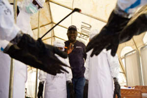 Training health workers on infection prevention